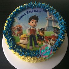 Torta Patrulla Canina Realiza tu pedido por; WhatsApp: 3058556189, fijo 8374484  correo info@amaleju.com.co Síguenos en Twitter: @amaleju / Instagram: AmaLeju Cupcakes, Birthday Cake, Twitter, Desserts, Instagram, Food, Themed Cakes, Cream, Tailgate Desserts