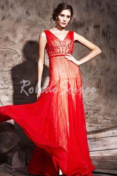 Une ligne de v-cou Tassel perles robe de soirée rouge Empire [RDS1302040133] - €315.17 : Robe de Soirée Pas Cher,Robe de Cocktail Pas Cher,Robe de Mariage,Robe de Soirée Cocktail.