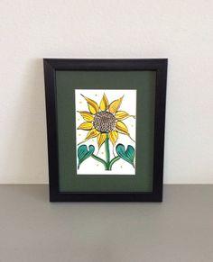 Sunflower Walter Anderson Silkscreen by GulfLifebyNichole on Etsy