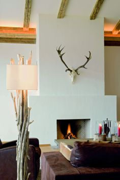 Kamin Kitzhof Suite Alpine Lodge, Find A Room, Top 10 Hotels, Stag Antlers, Old Cabins, Mountain Designs, Neutral Colors, Invitation Design, Austria