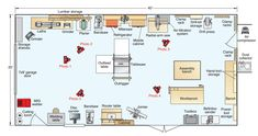 1000 images about woodwork shop ideas on pinterest dust for Small woodworking shop floor plans