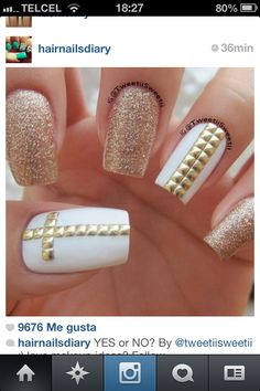 White gold nails