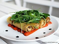 Chicken cannelloni with braised carrots