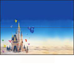 Castillo de Disney: Etiqueta para Bolsas de Golosinas para Imprimir Gratis.
