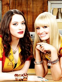 2 broke girls -I love this show! Kat Dennings Jennifer Coolidge and Beth Behrs are so funny.
