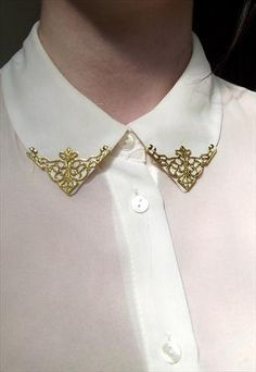 gold collar tips by FIFvintage on Etsy, £3.99