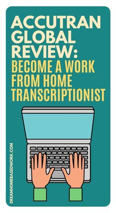 Did you know AccuTran Global hires transcriptionists to work from home? Transcription Jobs are one of the most popular work-from-home opportunities that you can take advantage of. Here is my honest review of AccuTran Global! #transcriber #onlinejobs #workathome Work From Home Typing, Legit Work From Home, Legitimate Work From Home, Work From Home Jobs, Work From Home Companies, Work From Home Opportunities, Earn Money Online Fast, Earn Money From Home, Transcription Jobs For Beginners