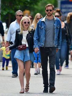 Dakota Fanning goes for a stroll with boyfriend Jamie Strachan in Soho