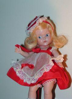 1950 Strung Vogue Ginny VALENTINE #2 Sweetheart Doll VINTAGE Special Promo Doll #VOGUE #VOGUE1950SSTRUNGHPGINNYDOLL