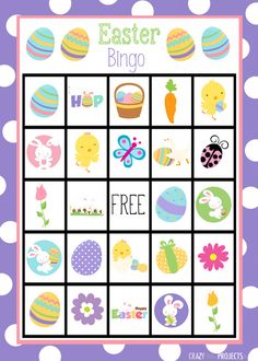 New Free Printable Easter Bingo Game With Colorful Boards