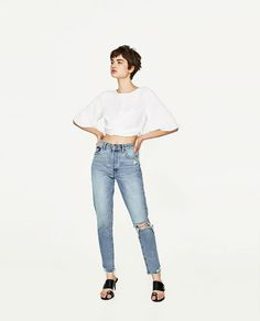ZARA - WOMAN - CROPPED TOP WITH BOW