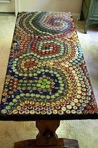 soda bottle caps - gorgeous!