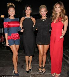 Beautiful Essex girls - Sam Faiers, Lucy Mecklenburgh, Billie Faiers and Fearne McCann.