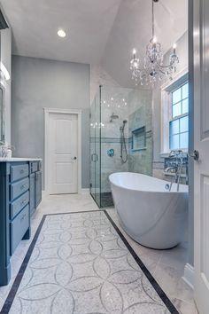 Nice 78 Light Blue Bathroom Color Decorating Ideas 3 Modern Small Bathroom Ideas - Great Bathroom Re Light Blue Bathroom, Master Bathroom Design, Bathroom Makeover, Modern Bathroom, Bathroom Renovations, Luxury Bathroom, Bathroom Design, Bathroom Decor, Beautiful Bathrooms