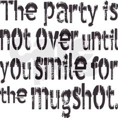 Party Mugshot Typography Stein