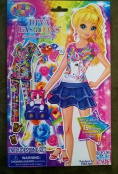 Lisa Frank Diva Fashions Dress Up Sticker Doll Blonde Cassie Mix & Match 3+ - http://dolls.goshoppins.com/paper-dolls/lisa-frank-diva-fashions-dress-up-sticker-doll-blonde-cassie-mix-match-3/