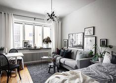 Studio Apt, Small Studio, Studio Apartment, Dream Rooms, Small Apartments, Home Decor Styles, Small Living, Home Interior Design, Decoration