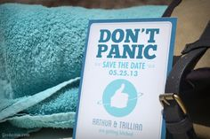 Forty Two Save the Date - Matching towel not included!