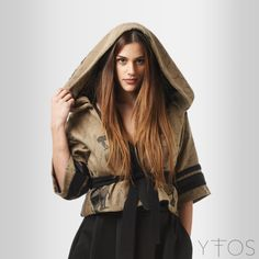 'Strength' Printed Jacket W/ Hoodie by @Kara Van Buskirk Clothing www.yfos.eu
