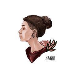 Illustration. portret