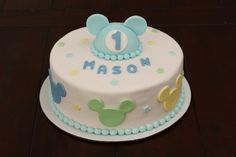 Baby Mickey Mouse Baby Shower Cakes