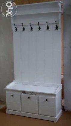 wieszak garderoba drewniany biały 150-80 Jarocin - image 1