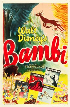 1948 US re-release poster for BAMBI (David Hand USA... Movie Poster of the Day