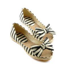 Stripes n Bow Flats