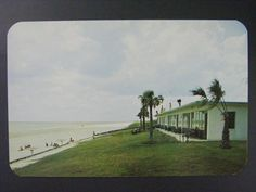 Daytona Beach Florida Sunnyside Colony Ocean Vintage Color Chrome Postcard 1950s