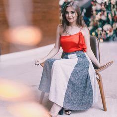 Um toque de cor ao querido P&B ❤ @luisamorato #reginasalomao #summer18 #merryxmas