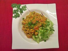 Hähnchen-Couscous Madras, ein schmackhaftes Rezept aus der Kategorie Wok. Bewertungen: 3. Durchschnitt: Ø 3,6.