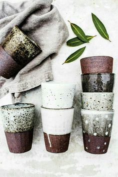 Image of Speckle beaker Ceramics Ceramic Clay, Ceramic Pottery, Pottery Mugs, Glazed Pottery, Stoneware Clay, Keramik Design, Sculptures Céramiques, Pottery Classes, Pottery Designs