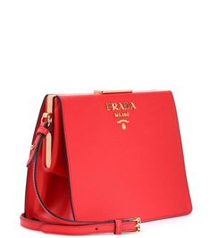 Exclusive to mytheresa.com – red saffiano leather shoulder bag