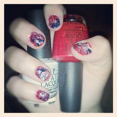 Right Hand Splatter Nails.