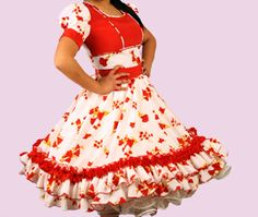 Huasa chilena, Vestidos de china! Dance Dresses, Ideias Fashion, Barbie, Costumes, Skirts, Square Dance, Beauty, Folklorico Dresses, Templates