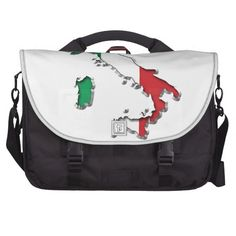 Map of Italy Laptop Commuter Bag  #Italy #Map #LaptopBag