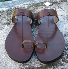 LEATHER SANDALS / Leather Handmade Sandals / Shoes by PACOSASTRE, $64.00