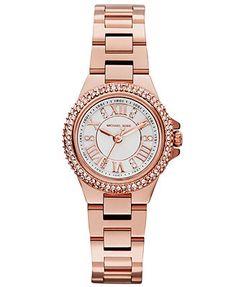 f4e8e20dd008 Michael Kors Women s Camille Rose Gold-Tone Stainless Steel Bracelet Watch  26mm MK3253 Michael Kors
