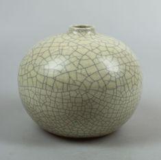 Groeneveldt 1930's vase with crackled glaze in Japanese style