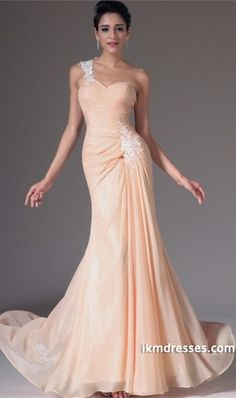 http://www.ikmdresses.com/2014-One-Shoulder-Pleated-Bodice-Sheath-Column-Evening-Dress-Chiffon-With-Applique-p85007