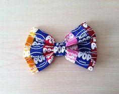 Tootsie Pop Hair Bow with Clip, Retro Fabric Bow, kids, Teens, Women #mscandyblog #candyblog #tootsiepop #lollipop