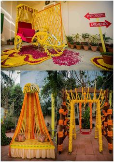 home decor diys Desi Wedding Decor, Wedding Hall Decorations, Luxury Wedding Decor, Marriage Decoration, Mehendi Decor Ideas, Mehndi Decor, Haldi Ceremony, Mehndi Stage, Background Decoration
