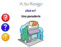Interactive Spanish powerpoint ~ places in the city vocabulary