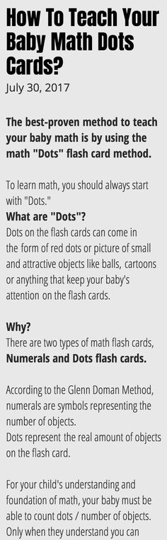 Math dots flash cards are very popular with parents to introduce math as a subject. Commonly used by Glenn Doman, Shichida and Heguru learning programs. Learn more.