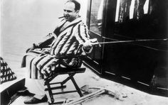 Chicago mobster Al Capone enjoys a moment of tranquility on his yacht in this photo taken between 1925 and the gangster's arrest in 1930.