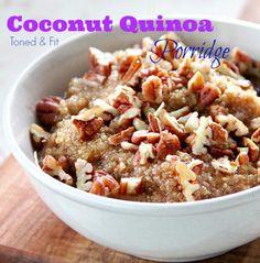 Coconut Quinoa Porridge {Gluten Free, Dairy Free, Vegan}