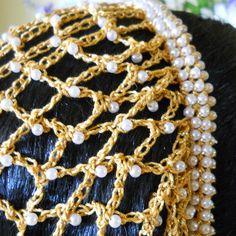 Borgia Inspired Beaded Snood Hair Net  The Lucrezia by aprilsbag
