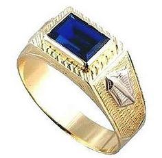 Anel de formatura programador em ouro 18k 750 1 pedra azul semi preciosa Peso: 6 GRAMAS