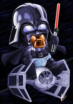 Mini Darth Vader by Arrietart.deviantart.com on @DeviantArt