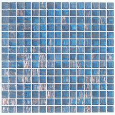 Aura Metallic Glass Tile - Soul Blue Transparent